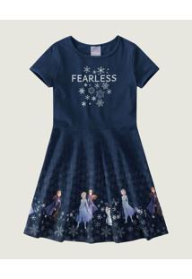 Vestido Evasê Frozen® Malwee Kids Azul - 2