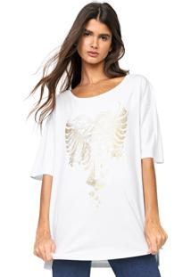 Camiseta Cavalera Metalizada Branca