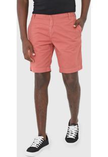 Bermuda Sarja Calvin Klein Jeans Chino Bolsos Rosa - Rosa - Masculino - Algodã£O - Dafiti
