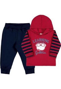 Conjunto Bebê Menino - Masculino-Vermelho