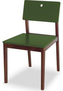 Cadeira Flip Cor Cacau Com Verde Escuro - 30835 - Sun House