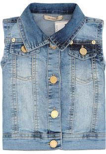Colete Jeans Feminino Cavado - Feminino-Azul 8554b3f1907d1
