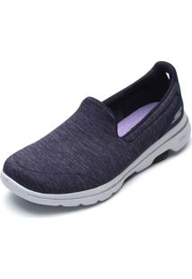Slipper Skechers Go Walk 5-Honor Azul-Marinho - Kanui