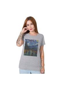 Camiseta Stranger Things X Van Gogh Cinza Stoned