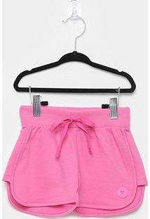 Shorts Infantil Pulla Bulla Moletinho Básico Feminino - Feminino-Pink
