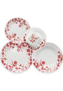 Aparelho De Jantar Chá Biona Donna 30Pc By Oxford - Unissex-Vermelho+Branco