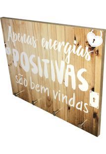 Porta Chaves Prolab Gift Energias Positivas Bege
