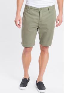 Bermuda Color Chino Curta Sarja Reat - Verde Militar - 38
