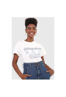 Camiseta Dzarm Signos De Ar Off-White