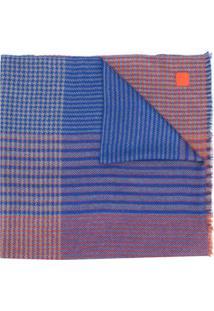 Salvatore Ferragamo Cachecol Com Patchwork - Azul