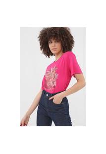 Camiseta Sommer Estampada Rosa