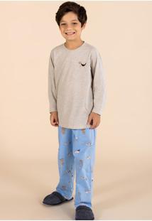 Pijama Longo Infantil Cachorrinho 141037 Mensageiro Dos Sonhos