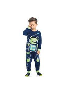 Pijama Astronauta Dino Marinho Azul
