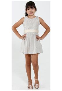 Vestido Infantil Lurex Regata Marisa
