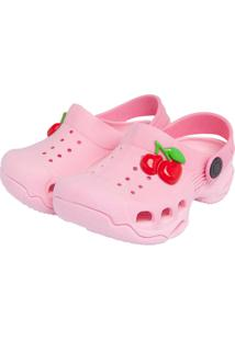 Babuche Dok Infantil Cherry Rosa
