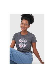 Camiseta Hurley Crush Floral Grafite