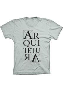 Camiseta Baby Look Lu Geek Arquitetura Prata