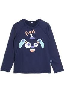 Camiseta Malwee Liberta Menina Estampa Azul-Marinho