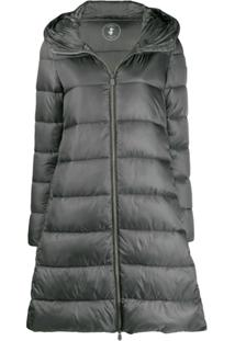 Save The Duck Padded Zip-Front Jacket - Cinza