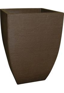 Vaso Moderno Quadrado Café - 36X36X55Cm - Japi