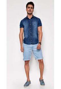 Bermuda Jeans Zait Angelo Masculina - Masculino-Azul