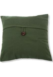 Capa Para Almofada Em Algodão Romantic 40X40Cm Verde