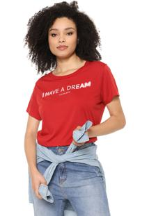 Camiseta Cropped Cavalera Dream Vermelha
