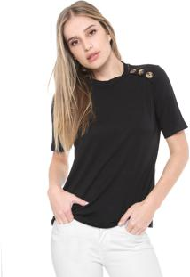Camiseta Mob Botões Onça Preta