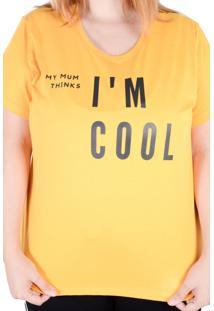 Camiseta Mostarda My Mum (, Gg)