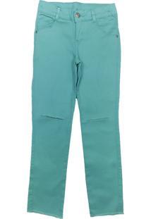 Calça Look Jeans Sarja Collor Verde - Tricae
