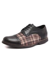 Sapato Social Shoes Grand Vintage Preto Tamanho Especial Preto