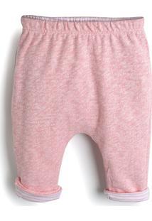 Calça Gap Infantil Mescla Rosa