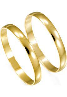 Aliança De Ouro Noivado Lisa Noivado Ou Casamento- As0002