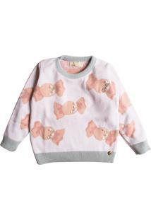 Casaco Suéter Ttricô Mini Lady Balinhas - Kanui