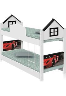 Beliche Infantil Casa Carro Red Com Colchãµes Casah - Branco/Preto - Menino - Dafiti