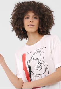 Camiseta Sommer La Femme Off-White - Off White - Feminino - Algodã£O - Dafiti