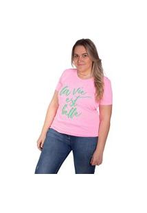 Camiseta Birdz Estampada Rosa