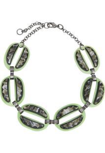 Colar Le Diamond Choker Ellos Verde