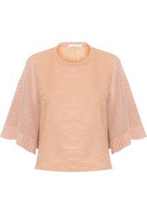 Camiseta Feminina Tricot - Bege