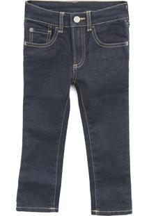 Calça Jeans Gap Infantil Pespontos Azul-Marinho