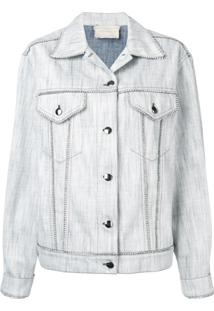 Marco De Vincenzo Classic Denim Jacket - Branco