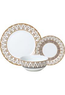 Aparelho De Jantar De Porcelana Super White Bambu Wolff – 18 Peças
