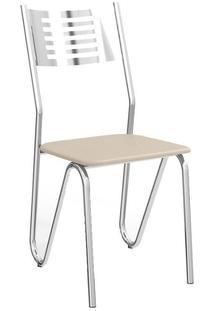 Cadeira Kappesberg Nápoles 4C045 (4 Unidades) Cromada/Nude
