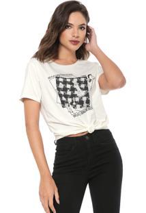 Camiseta Carmim Make The Rules Off-White