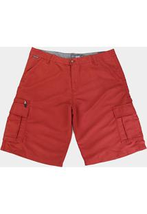 Bermudas Gajang Básica Plus Size Masculina - Masculino-Vermelho