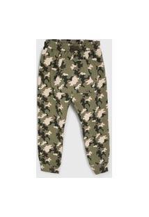 Calça Tip Top Infantil Camuflada Verde/Marrom