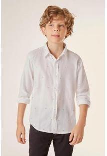 Camisa Pf Mini Estampada Type Micro Infantil Reserva Mini - Masculino-Branco