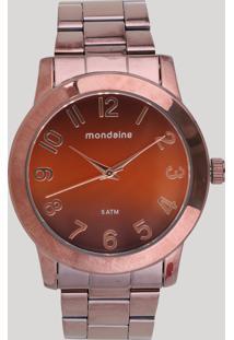 Relógio Analógico Mondaine Feminino - 76514Lpmvme6 Marrom - Único