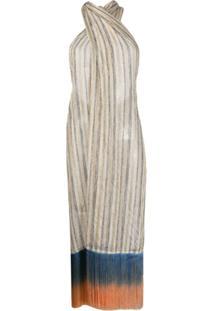 Emilio Pucci Vestido Com Franjas - Neutro