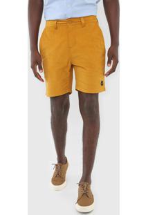 Bermuda Rvca Chino All Time Slate Amarela - Amarelo - Masculino - Dafiti